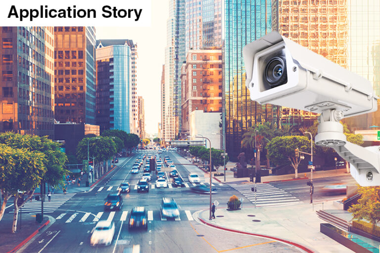 Security camera in traffic intersections